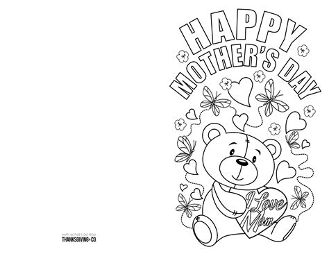 mothers day pictures to color 4 free printable s day ecards to color