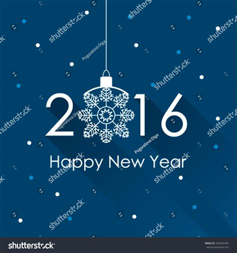 New Year Card Template 2016 by Happy New Year 2016 Creative Greeting Stock Vector