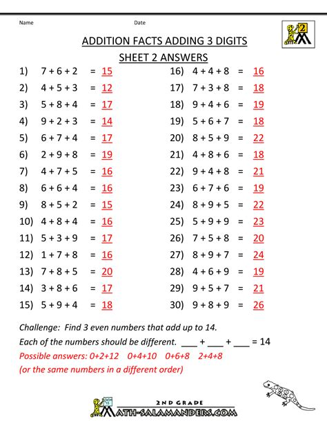printable worksheets with answer key worksheet 4th grade math worksheets with answer key