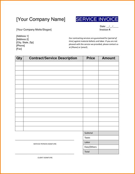 contractor invoices templates electrical invoice template word rabitah net