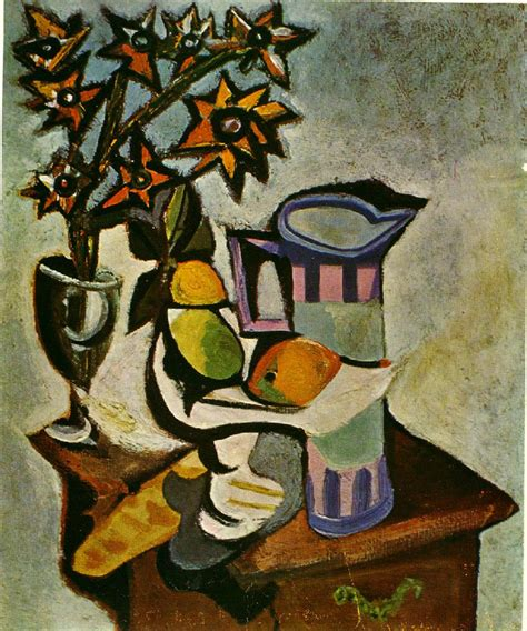 biography picasso artist still life of pitcher fruit and flowers picasso 1930s