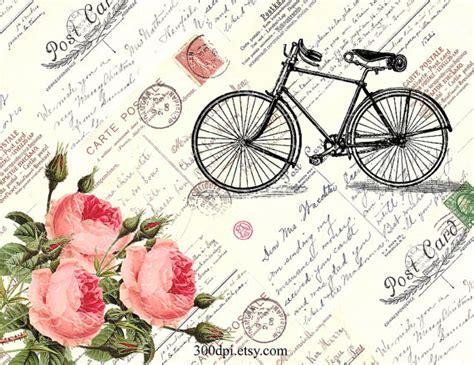 imagenes vintage para imprimir en espejo bicicleta rosas liaci 243 n de imagen digital para imprimir