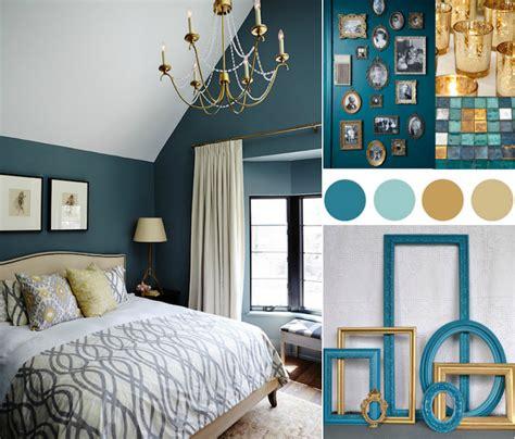 chambre bleu canard deco bleu canard et or