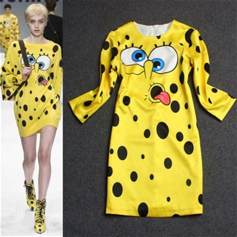 Dress Spongebob Squarepants aliexpress buy 2014 new runway spongebob