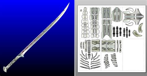 papercraft weapons templates thranduil sword template by morellagrysis on deviantart