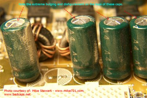 bad capacitor ripple electrolytic capacitor failures