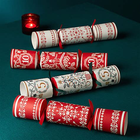best 28 ready to fill christmas crackers single red