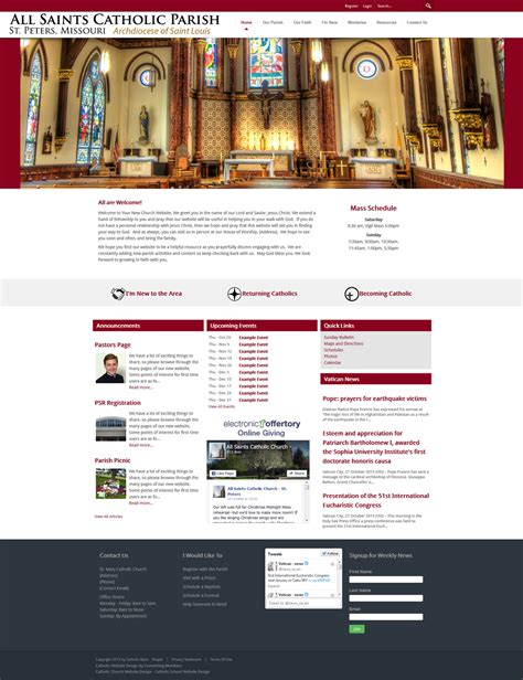 Church Web Templates by Catholic Church Website Template Simple