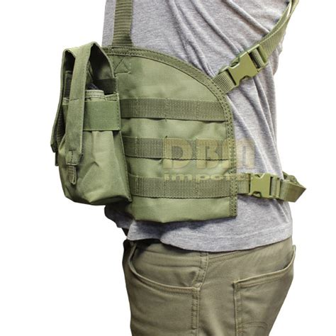 Rompi Tactical Vest Fsbe Molle Improt molle golem chest rig tactical pouch mag holder pouches vest carrier od green