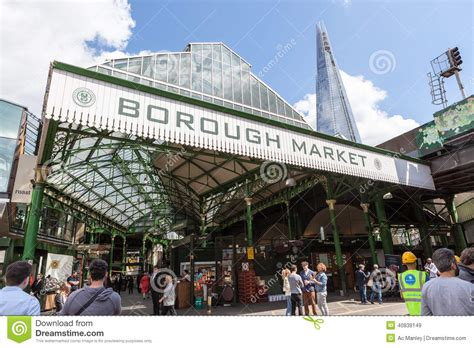 borough market sign borough market near london bridge editorial stock image
