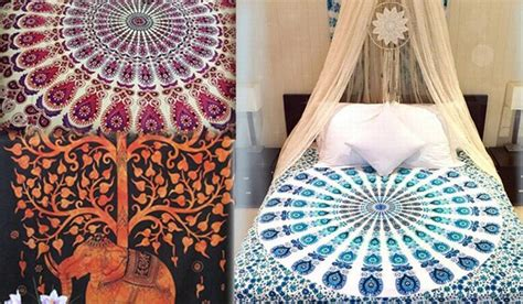 tapestry for bedroom indian hippie tapestries for perfect home decor and bedroom bohemian mandala wall