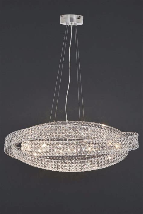 Next Pendant Light Next Venetian 10 Light Clear Ceiling Lighting Chandelier New Ebay