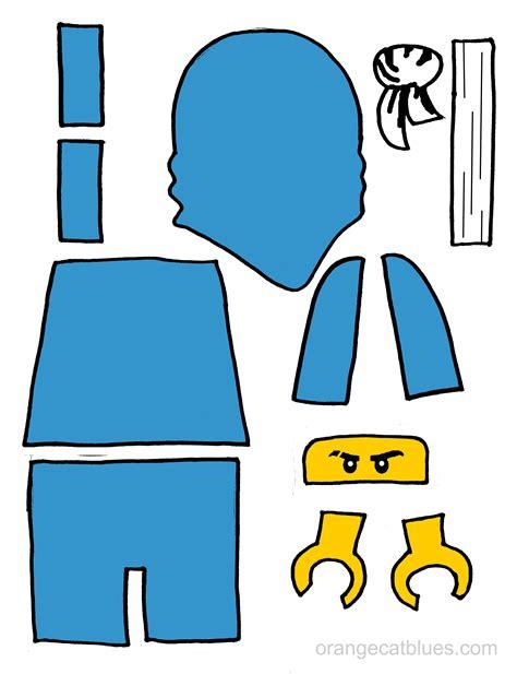 lego ninjago printable cutout  toddler gluestick art