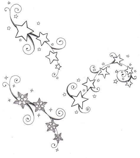 stars and flower tattoo designs real photo pictures