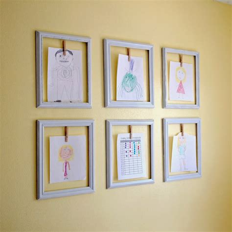how to display art how to display kids art without making it bothersome