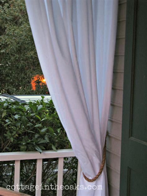 rope curtain tie backs diy little brags diy rope tie backs restoration hardware