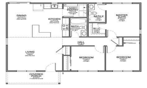 small 3 bedroom house floor plans simple 4 bedroom house