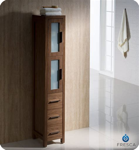 tall bathroom linen cabinet 12 quot fresca torino fst6260wb tall bathroom linen side