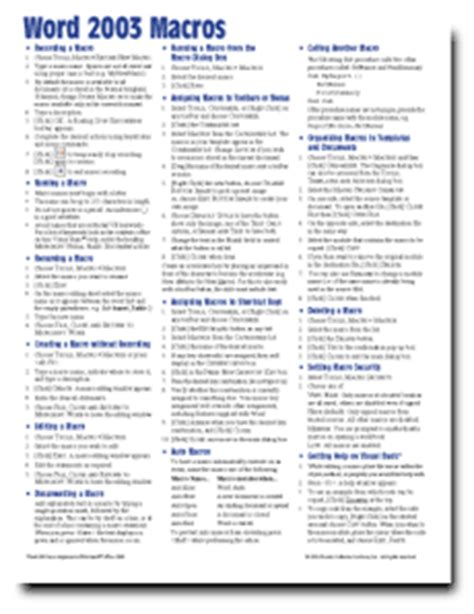 excel 2003 quick reference card guide cheat sheet