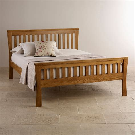 cotswold oak 5ft curved bed buy online at qd stores orrick king size bed rustic solid oak oak furniture land
