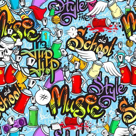 graffiti vinyl wallpaper 10x10ft old school style hip hop graffiti wall music band