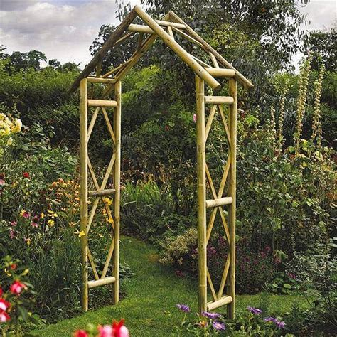 Garden Arches Direct Rustic Style Wooden Garden Arch