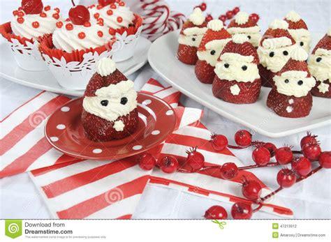 theme line red velvet christmas holiday strawberry santas with cherry red velvet