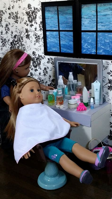 american girl doll hair dresser american girl doll crafts and fun how to set up make a