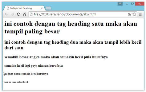 cara membuat web dengan tag html cara membuat website tag heading dan atributnya pada html