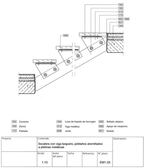 c section stairs stair section details sections pinterest escalera