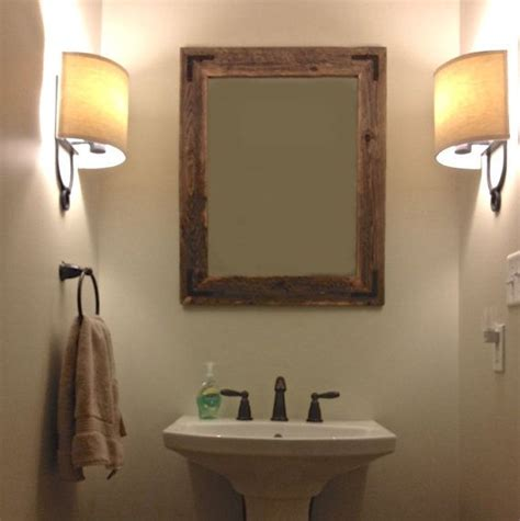 rustic vanity mirrors for bathroom 24x30 reclaimed wood bathroom mirror hurd honey