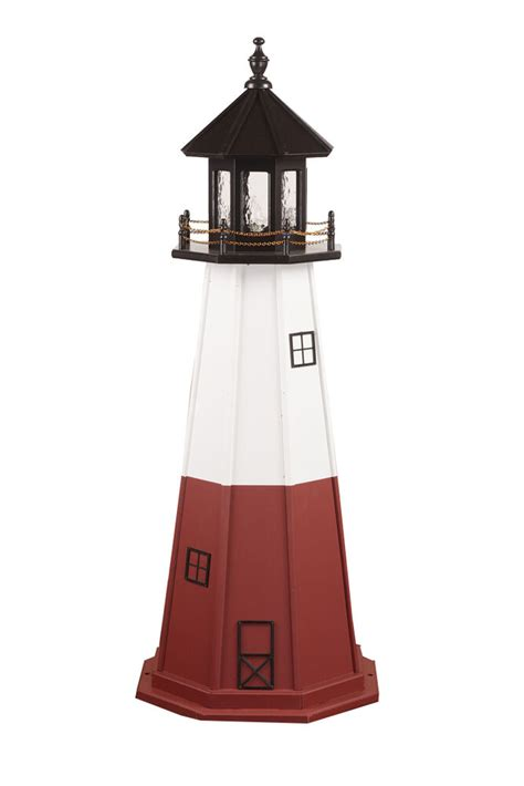 amish  wood hybrid  poly lighthouse replicas