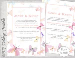 butterfly wedding invitations templates butterfly invitation template printable wedding invitations