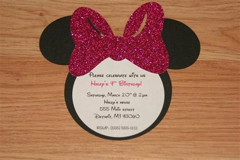 Handmade Minnie Mouse Invitations - handmade minnie mouse invitations with by angiesdesignz on