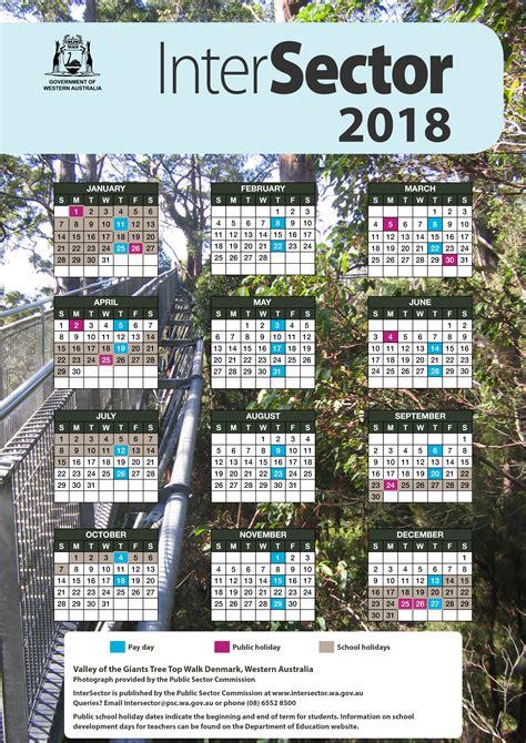2018 Calendar Wa Intersector Calendar Intersector
