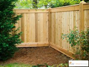 the sanford custom cedar wood privacy fence pictures