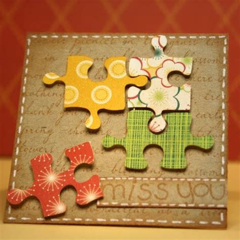 card hugs crossword 1000 images about crafts using jigsaw puzzle pieces