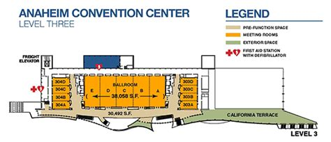 anaheim convention center floor plan acop pediatric track at omed 2016 mmg maps floor plans