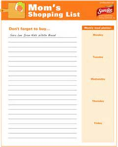 Thanksgiving Shopping List Template Gallery For Gt Thanksgiving Shopping List Printable