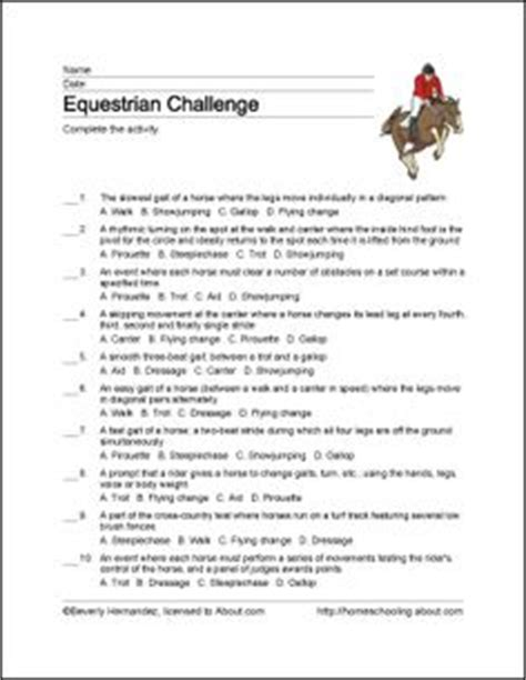printable tennis quiz parts of a horse word search c crafts pinterest