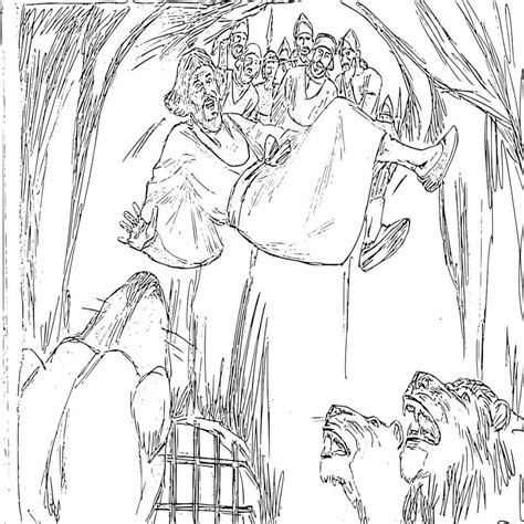 coloring page daniel in lions den 15 daniel in the lion s den coloring page