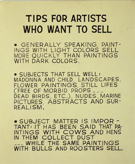 sell paint john baldessari image object text