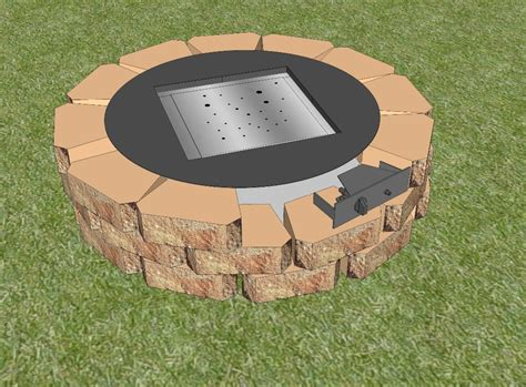 diy gas pit a great choice for pollution free environment fireplace design ideas