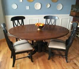 Wyoming Oak Stain Dining Table And 4 Purple Chairs Table And Chairs In Java Antique Walnut Gel Stain And