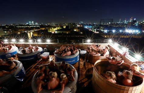 Bathtub Cinema by Original Tub Cinema Concept Invading Rooftops