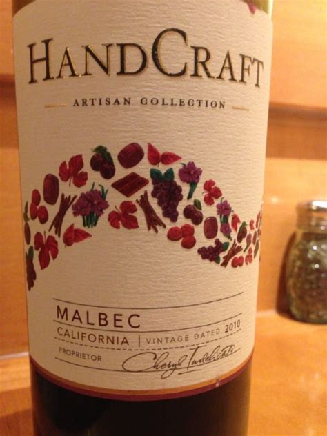 Handcraft Winery - 2010 handcraft malbec usa california cellartracker