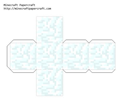 Minecraft Papercraft Snow Set - papercraft snow