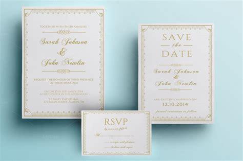 Wedding Invitation Packs by 90 Gorgeous Wedding Invitation Templates Design Shack