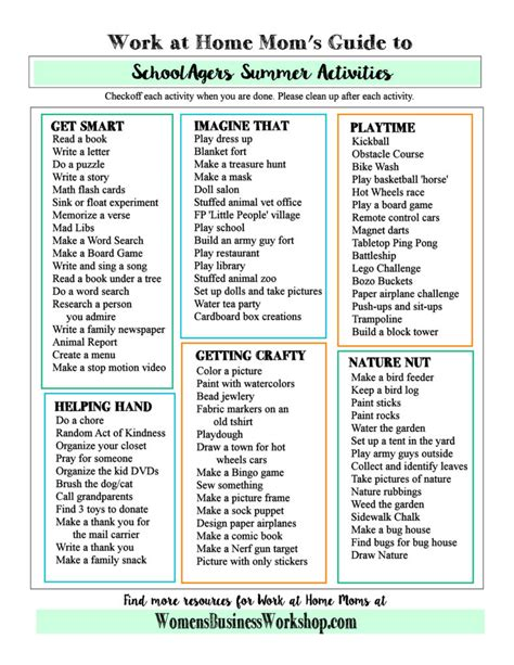activities for work work at home s summer activities for s