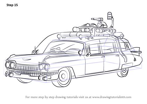 ghostbusters car coloring pages learn how to draw the ghostbusters car ghostbusters step